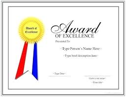 Free Printable Certificate Of Excellence Template Make