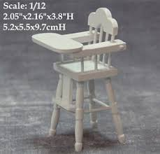 1 12 scale dollhouse miniature baby dinning chair bb furniture doll house dinning room affordable dollhouse furniture