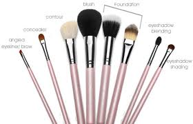 here is a quick pic of what brushes you need to be using when applying cern makeup