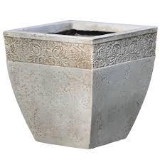 ash square cream planter (h)cm (l)cm  departments  diy at bq