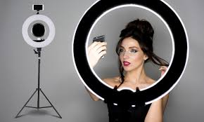 """$179 for a Dimmable 19"""" LED Ring Light for Photography and Make-Up"""