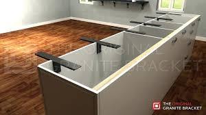 granite overhang support countertop silestone ogesico granite overhang support