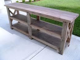 Diy Rustic Sofa Table Rustic Log Cut Sofa Table With Dark Iron Base Rustic Sofa Table