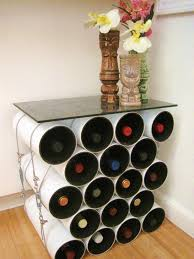 creative ideas for home furniture. Creative Homemade Wine Rack Storage Made From Plastic Plumbing Pipe As Display Table Furniture With Glass Top Ideas For Home