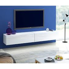 Morden High Gloss White TV Wall Mounted Cabinet Stand Living Room Unit  Furniture