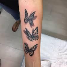 Realistic 3d Butterfly Tattoos Arm Tattoo Sites