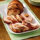 andouille stuffed pork tenderloin with rosemary butter glaze