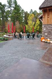 create a beautiful fire pit area with stamped concrete design ideas and photos