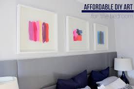 Affordable DIY Art for the Bedroom