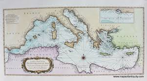 A Correct Chart Of The Mediterranean Sea From The Straits Of