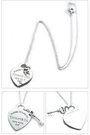 tiffany tiffany co necklace rtt heart tag key pendant 16 in 26909686