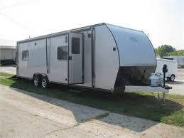 28 atc aluminum toy hauler trailer