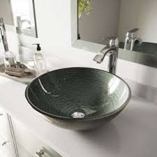 silver vessel sink. Modren Vessel Glass Vessel Sink In Simply Silver And Linus Faucet Set Chrome Intended E