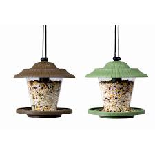 garden treasures green and brown plastic finch sock bird feeder
