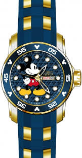 the disney limited edition collection watches by invicta are invicta mens 23764 disney blue dial sport stainless steel watch in jewelry watches watches parts accessories wristwatches