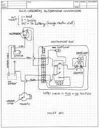 squid's fab shop allis chalmers b alternator conversion Ford Alternator Wiring Diagram allis chalmers b alternator conversion schematic