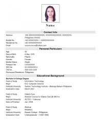 Resume Format For Job Gentileforda Com