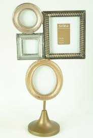 photo frame freestanding multi cer of gold silver and champagne picture frames
