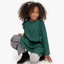 <b>Платье струящееся</b> с воланами, 3-12 лет темно-зеленый <b>La</b> ...