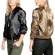 women casual jacket basic coat outerwear black gold baseball jacket autumn long sleeve short coat chaquetas mujer zipper 930931 designer leather jackets