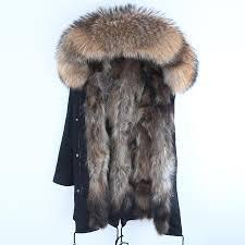 real fur parka men winter jacket real rac fur hooded coats nature rac dog lining jacket man real fur coat mens coats jackets black leather er