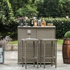 3 piece patio bar set. Beautiful Set Kortright 3 Piece Bar Set On Patio