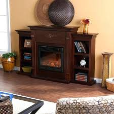top rated electric fireplace heaters freestanding a electric fireplace in classic espresso with bookcases a best top rated electric fireplace