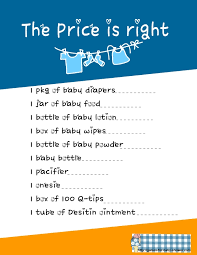 Free Printable Price Is Right Baby Shower Game Template ...