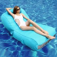 inflatable pool furniture. OVE Decors Aqua Sunlounger - Inflatable Pool Float (Blue) (Blue), Patio Furniture N