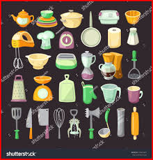 colorful kitchen utensils. Kitchen Colorful Utensils Unbelievable Set Used Cooking Stock Vector For Concept And L