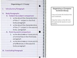 monday ppt organizing a c c essay organizing a compare contrast essay