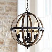 Wood lighting fixtures African Lighting Kimpton 6light 21 Lamps Plus Wood Lighting Fixtures Lamps Plus