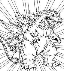 Small Picture Godzilla Godzilla Coloring Pages for Kids LineArt Godzilla