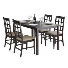 daria 5 piece pub height set see more the gorgeous atwood dining set includes a dining table and four 4 chairs to
