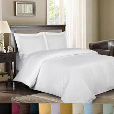 com royal hotel sateen striped 300 thread count 3 piece cotton king duvet cover set white home kitchen