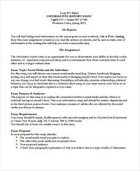 sample informative essay examples in word pdf informative report essay