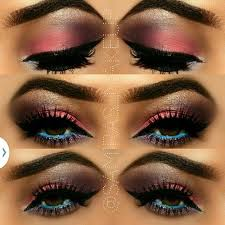 colourful makeup eye look