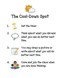 The Cool Down Spot Chart A Way To Make In Class Time Outs