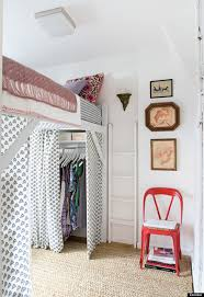 Bed in closet Alcove Loft Huffpost 11 Ways To Make Tiny Bedroom Feel Huge Huffpost Life