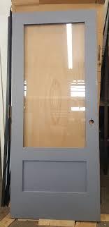 panel hollow metal door with glass