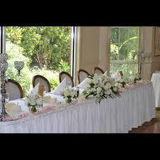 Wedding Reception Arrangements For Tables Wedding Reception Flowers Bridal Table 09 Bridal Table