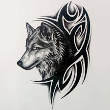 New Removable Waterproof Lone Wolf Howl Month Arm Tattoo Body Art Stickers Cool Feel Good