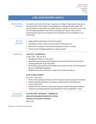 Interesting Line Cook Resume Template For Your Line Cook Resume