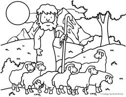 Lord Is My Shepherd Coloring Page Sunday School Sunday School