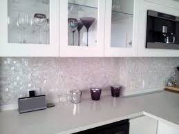 pure white seamless freshwater mosaic tiles on mesh kitchen project contemporary kitchen