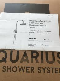pulse showerspas 1052 bn aquarius shower system in brushed nickel for