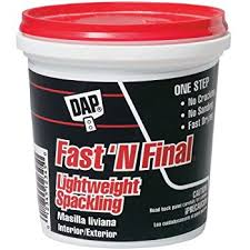 exterior joint compound. dap 12141 fast\u0027n final spackling interior and exterior joint compound