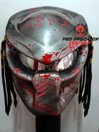 version 2 custom handmade predator motorcycle dot approved helmet