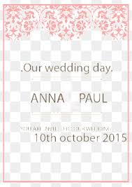 Free Downloadable Wedding Invitation Templates Wedding Invitation Templates Png Vectors PSD and Clipart for Free 95
