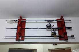 fishing pole rack racks for cars horizontal plans wall mount diy garage holder rod holders boat rails kayak pontoon pdf truck roof storage boats 8902 light